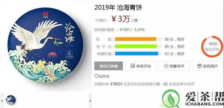 大益普洱茶行情分析:小议沧海,最近有点热闹的大益茶市